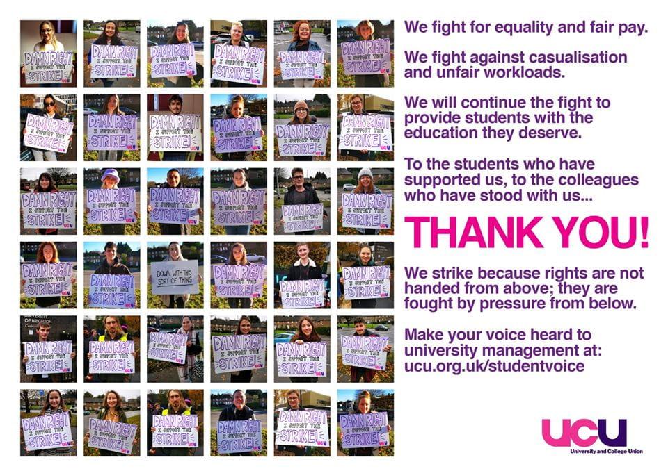 Students support UCU strike