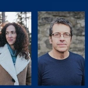 Screenshot of link to event with Melanie Challenger and George Monbiot