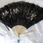 Fan sold in a shop in East Street Brighton, from the Dress History Teaching Collection