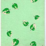 Design dark green leaves on pale green from Walter Fielden Royle collection