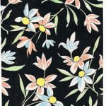 Stem and petal design in white on black s from Walter Fielden Royle collection