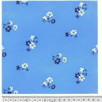 Cloth design small flower bunches in white on sky blue from Walter Fielden Royle collection