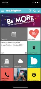 screenshot of MyBrighton student app