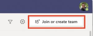 Screen shot of join code link in desktop app