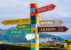 multicoloured signpost