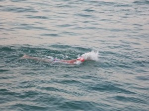 Gary Brickley channel swim 1
