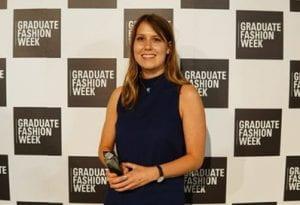 Hannah with Graduate Fashion Week award