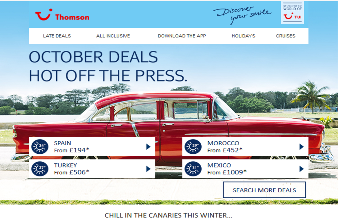 What To Expect In A Promotional Email From Thomson It382 Digital Marketing Blog Jcb31