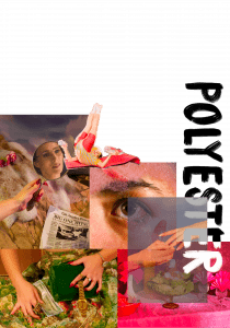 Polyester zine research colleges and title art experimentations