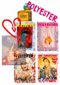 Polyester zine research collages