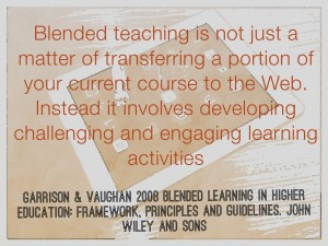 Quote on blended learning