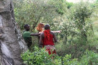 Eve on Kenya research trip