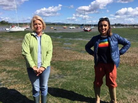Dr Coican with Countryfile's Anita Rani