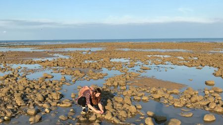 Amy at a rockpool