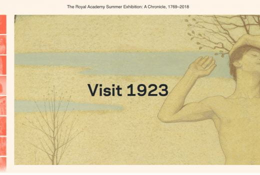 1923 view of Royal Academy exhibition chronicle