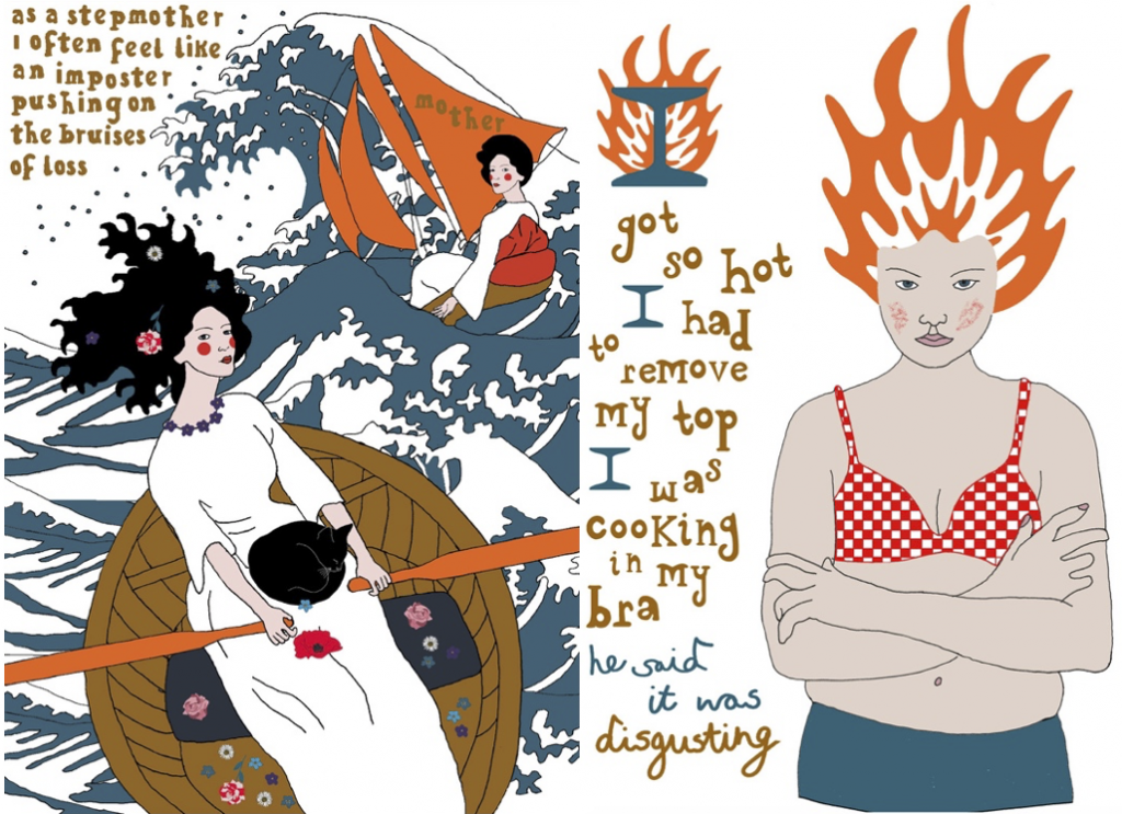 Two illustrations by Nicola Miles