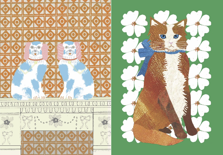 Two designs for greetings cards by Nicola Miles