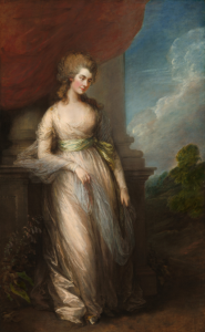 An eighteenth century painting of a female figure.