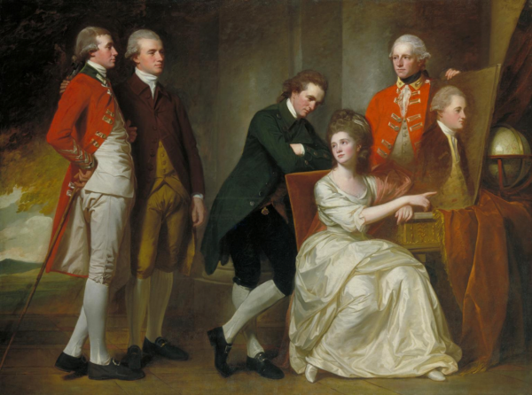 An eighteenth century group portrait of aristocrats.