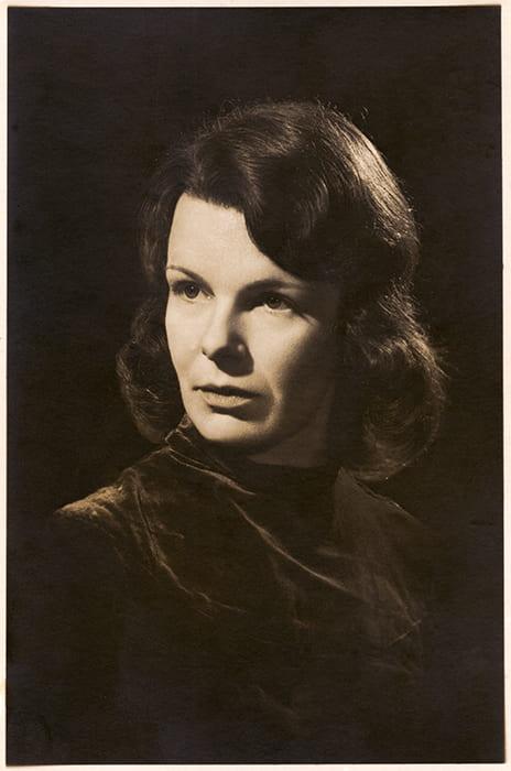 Black and white portrait of Priscilla Johnston