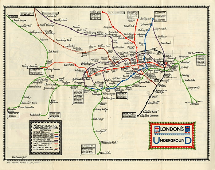 London Underground map from 1924