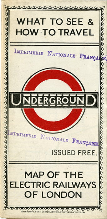 Cover of London Underground map from 1924
