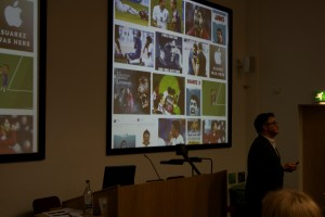 Richard Gillis presenting at the Value of Sport conference 2015