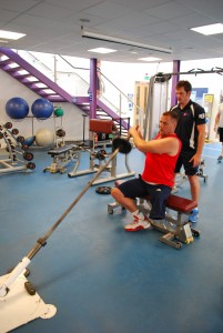 Alex coaching Simon to improve strength and conditioning