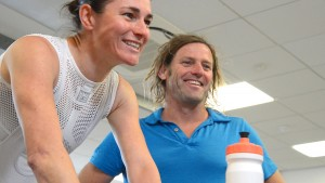 Dr Gary Brickley with Dame Sarah Storey