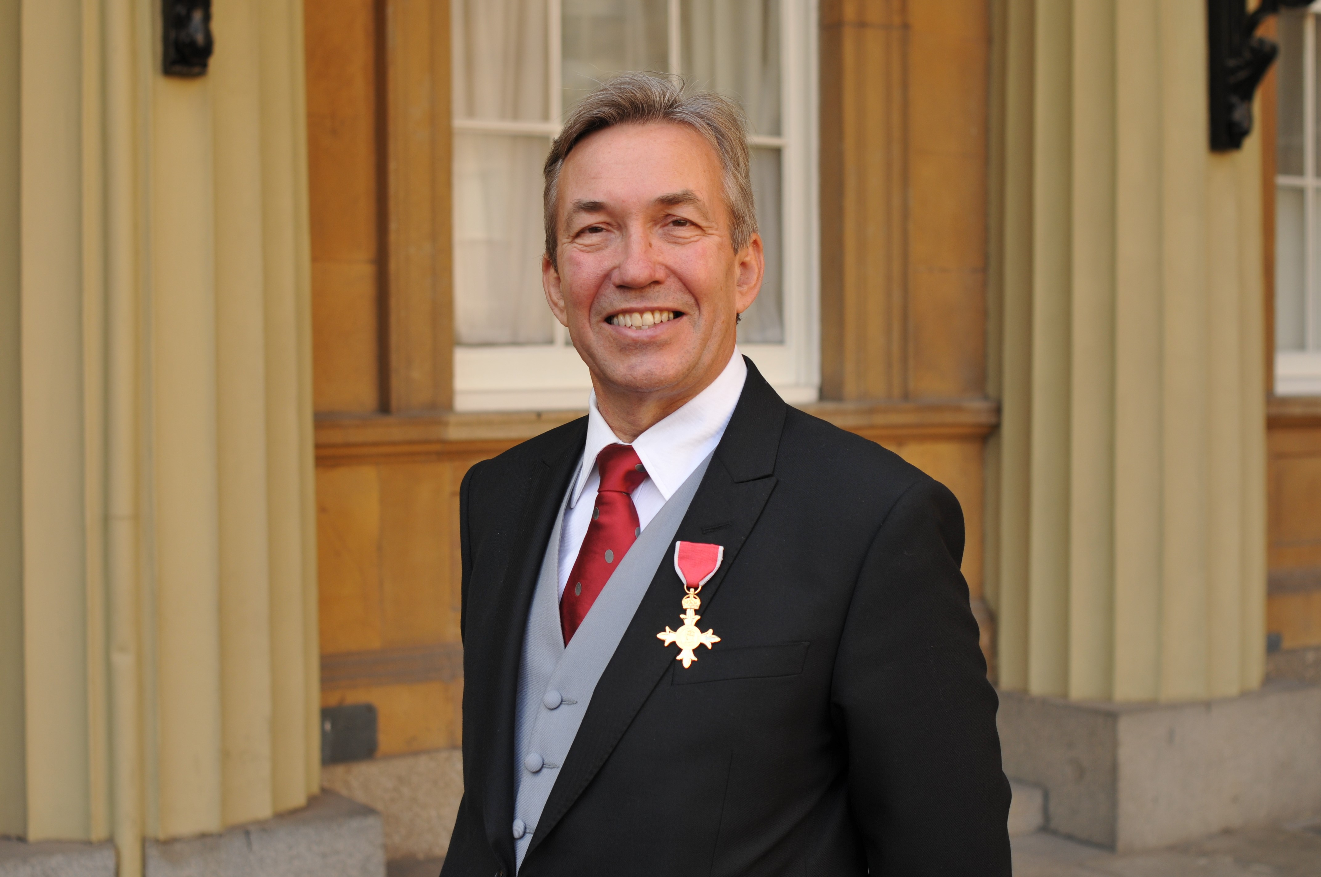 Nick with his OBE