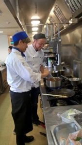 students in the culinary arts studio