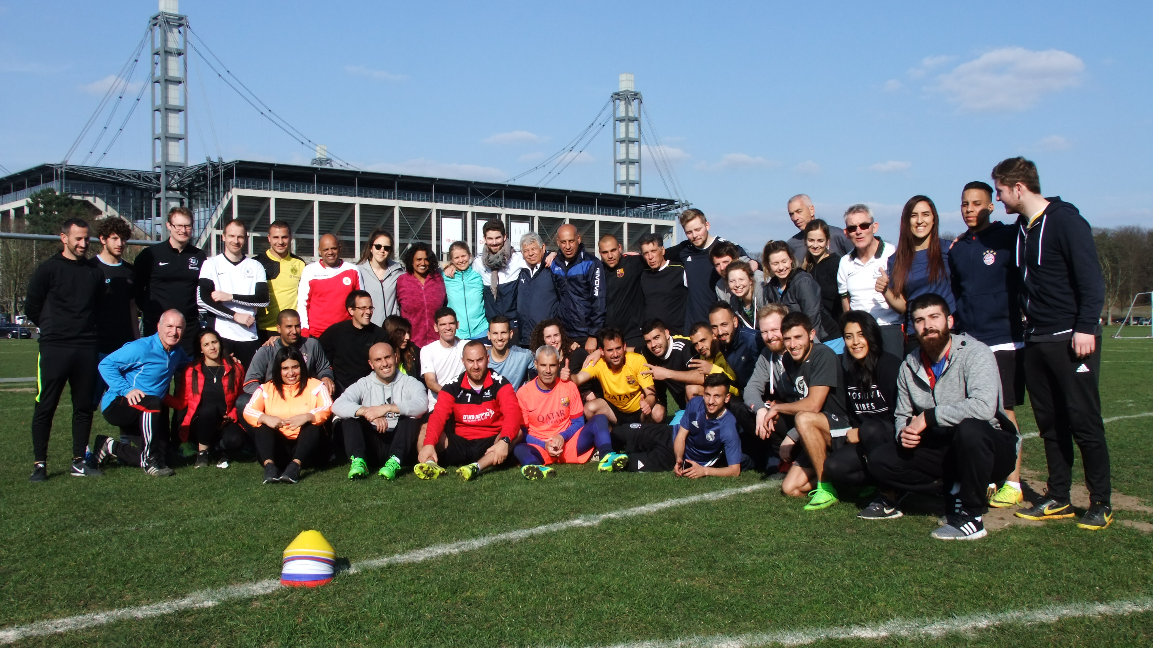 Photo of the whole group of coaches and teachers