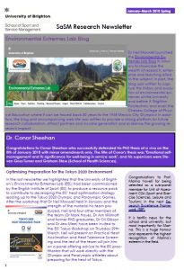 image of the newsletter front cover