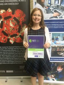 Jennifer with her winners certificate