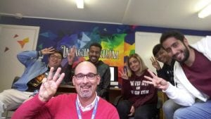 Dr Ioannis Panteldis and the postgraduate hospitality students in the Imaginarium