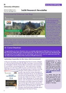 cover of the newsletter