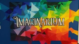 the colourful Imaginarium branding