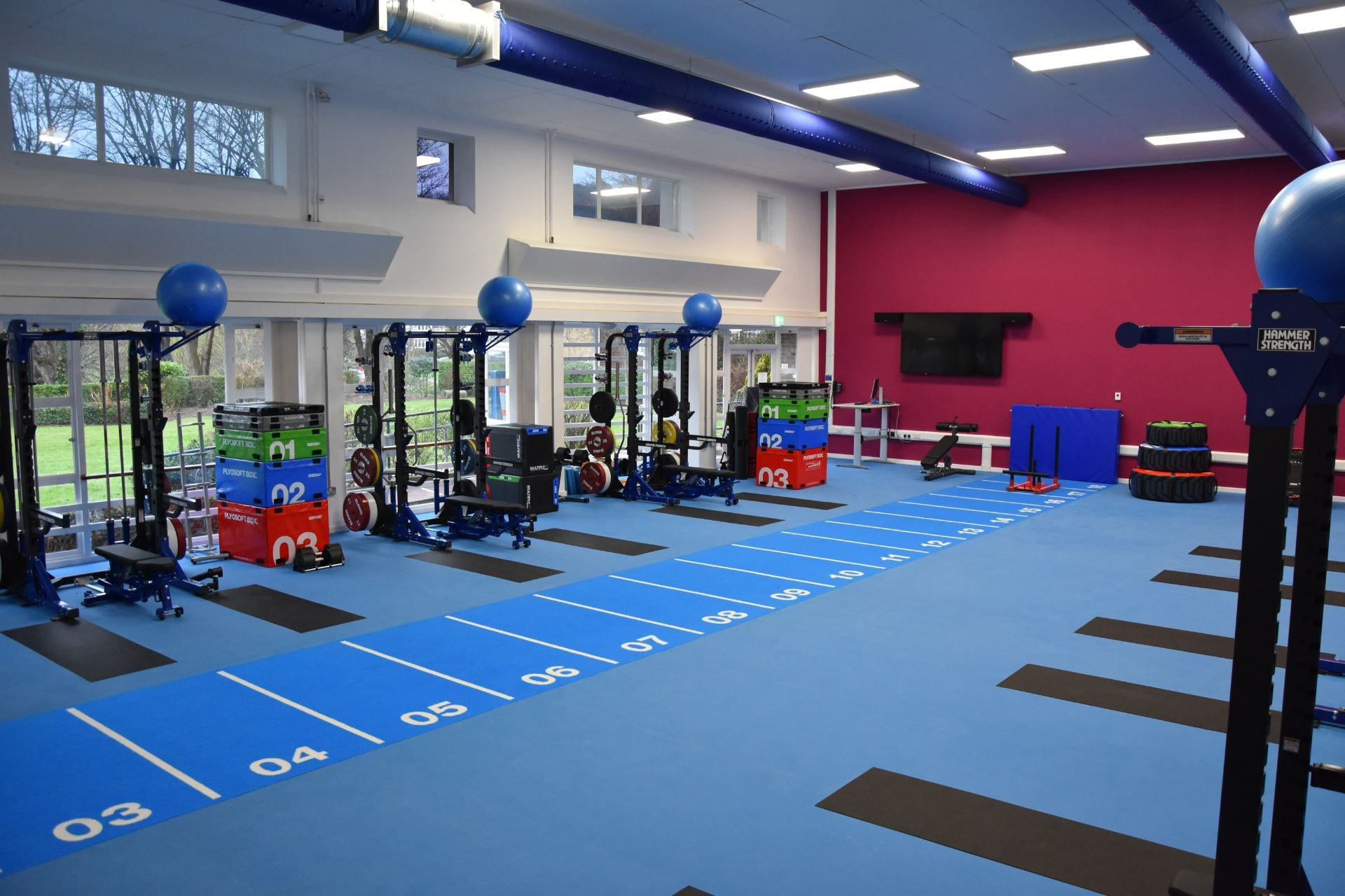 the new gym facilities