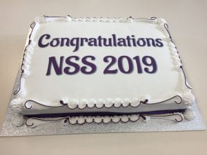 the NSS celebration cake