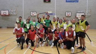 The group of PE trainee teachers in the gym
