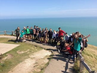 The group on the cliffs at Eastbourne