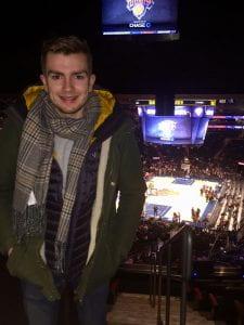 Jack at a basketball match