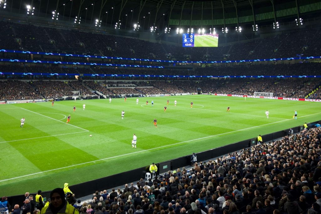Photo of a game on the p[itch of Tottenham Hotspur
