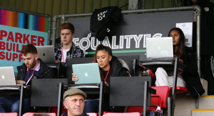 Photo of the students at the match