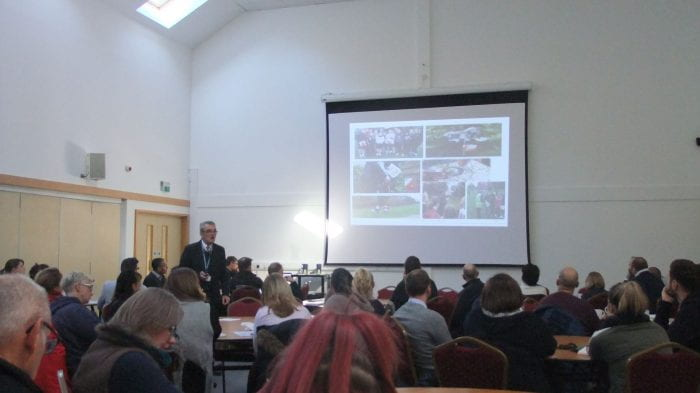 Gary speaking at the conference