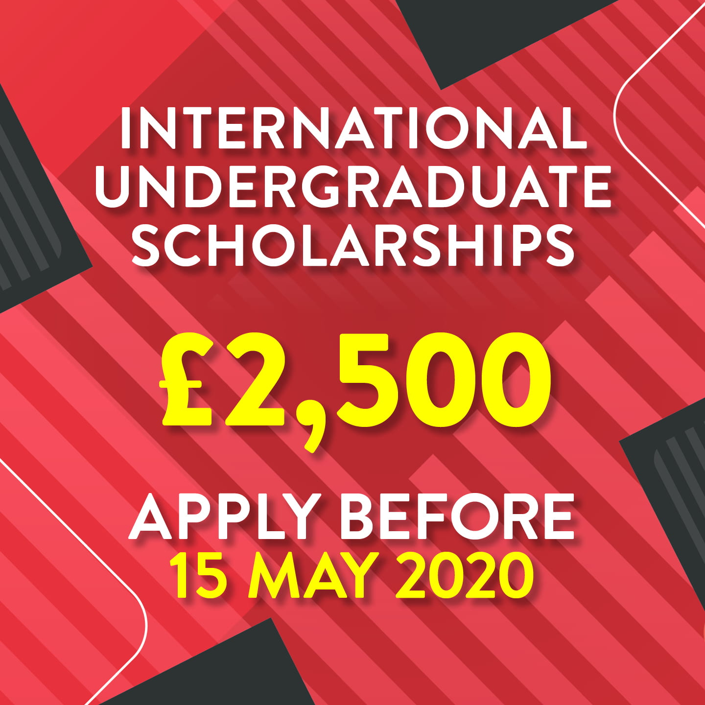 image showing scholarship value and the deadline date