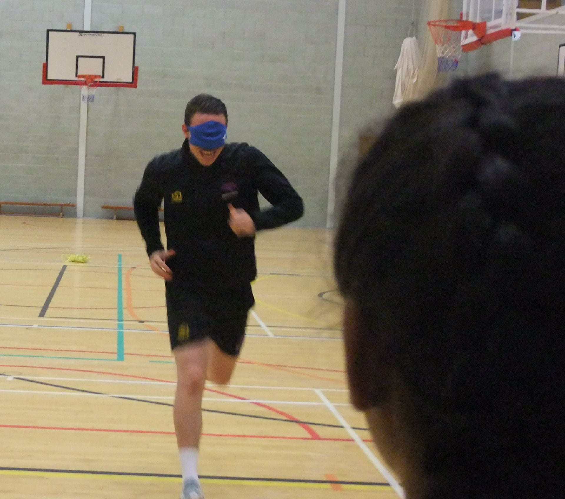 students in the gym during the session