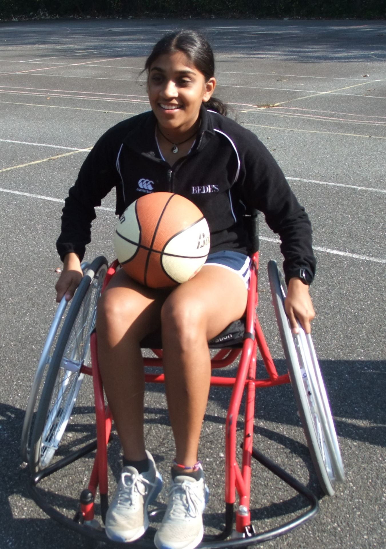 one of the students in a wheelcharir