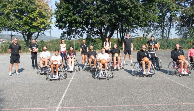Group of students - some in wheelchairs
