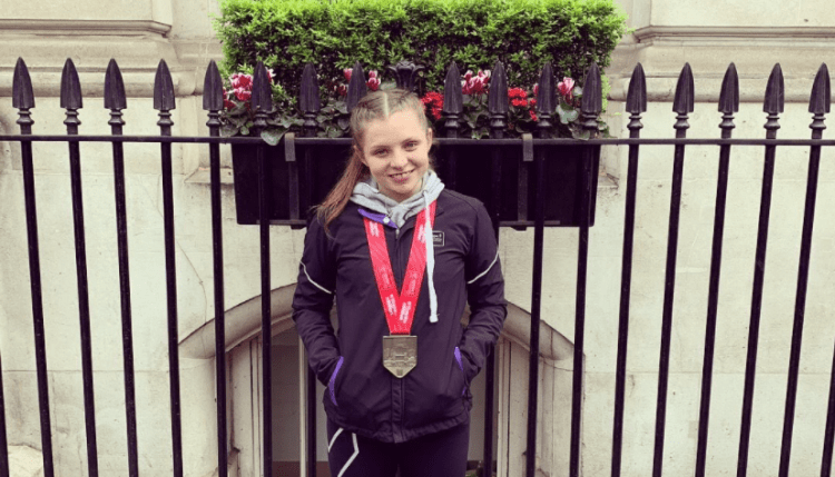 Farran after completing the London Marathon